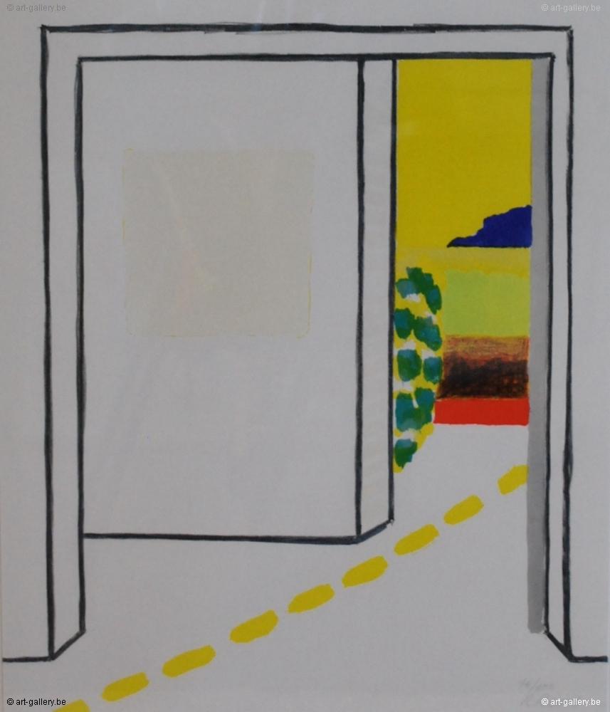 Roger raveel witte ruimte van een kamer met doorkijk te koop - Decoreren van een volwassen kamer ...