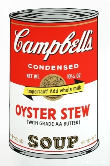 WARHOL Andy - Campbells soup - Oyster stew