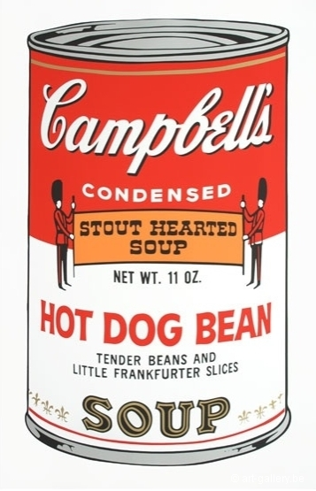 WARHOL Andy - Campbells soup - Hot dog bean
