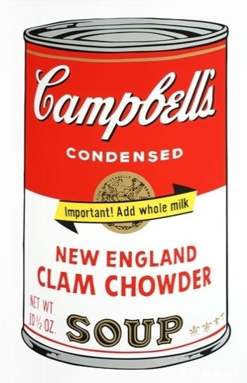 WARHOL Andy - Campbells soup - New England clam chowder