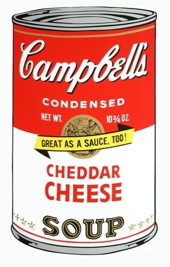 WARHOL Andy - Campbells soup - Cheddar cheese