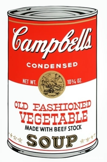 WARHOL Andy - Campbells soup - Old fashioned vegetable