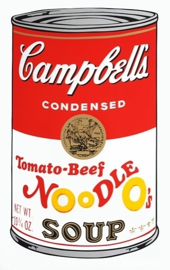 WARHOL Andy - Campbells soup - Tomato Beef Noodle os