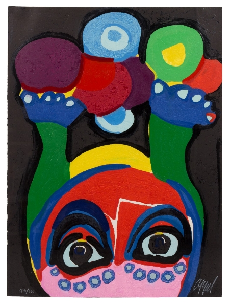 APPEL Karel - Clown Visage Paysage