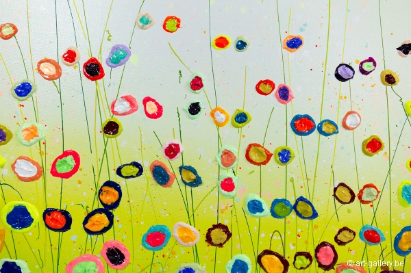 MURAVYEVA Yulia - Flowers with a blue sky