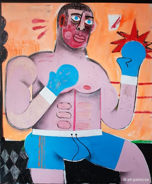 JOACHIM - Boxer with blue boxing gloves