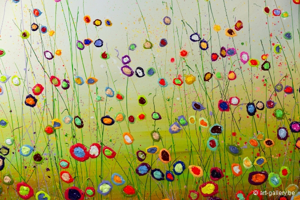 MURAVYEVA Yulia - Purple line in flowerfield
