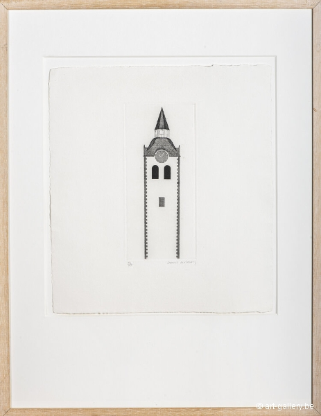 HOCKNEY David - Six fairy tales, The curch tower and the clock
